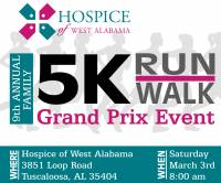 Grand Prix 5K This Saturday sponsored by Hospice of West Alabama